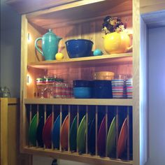 My fiesta dish display