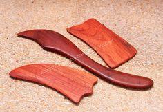 Gua Sha Reflexology Massage Tool Rosewood Set of 3 by YesCool
