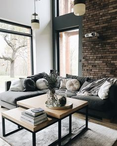27 Simple Contemporary Home Decor Ideas ~ House Design Ideas 3 Living Rooms, Beautiful Living Rooms, Home And Living, Living Room Designs, Living Room Decor, Bedroom Decor, Modern Industrial Decor, Contemporary Home Decor, Lounge Design