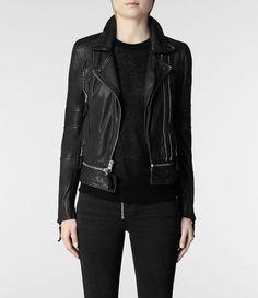 Womens Assembly Leather Biker Jacket (Black)   ALLSAINTS.com Biker Jackets,  Leather bfcf1bf9d9