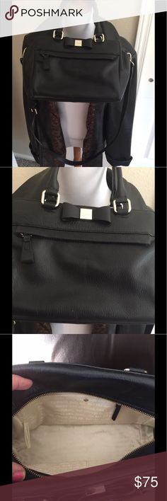 Kate Spade Black Leather Bag Excellent condition clean with shoulder strap  10 x 7.5x4.5 kate spade Bags Shoulder Bags