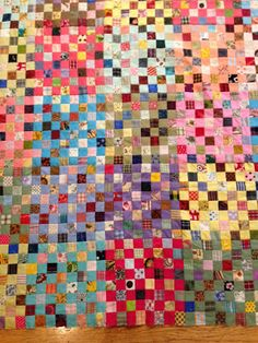 klein meisje quilts: postage stamp--top completed