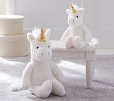 West Elm Unicorn Plush - how sweet are these? The girls would love.