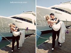 Marina Del Rey Wedding by Teale Photography. Shannan & John married aboard the Dandeana. Fantaseayachts.com