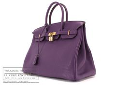 Authentic Hermes Handbags | HERMES - Authentic Hermes Birkin 35cm Bag Ultraviolet Togo NEW ...