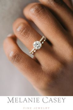 Unveiled Ring with Pave Band, 1.4ct. Champagne Diamond Dream Engagement Rings, Engagement Ring Settings, Delicate Engagement Ring, Wedding And Engagement Rings, Petite Engagement Ring, Most Beautiful Engagement Rings, Classic Engagement Rings, Engagement Ring Styles, Wedding Band Sets