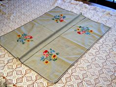 Simple Embroidered Table Cloth - Germany