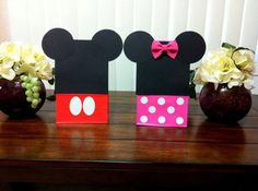 Minnie and Mickey mouse birthday bags