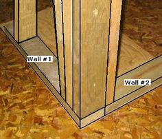 How To Frame A Wall Corner - How To Build A Corner Wall