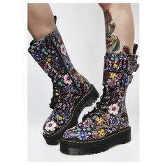 Demonia I'ma Cool Gal Combat Boots ($82) ❤ liked on Polyvore featuring shoes, boots, military boots, demonia boots, lace up military boots, lace-up boots and zipper boots