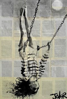 "Saatchi Online Artist: Loui Jover; Ink 2013 Drawing ""flight"""