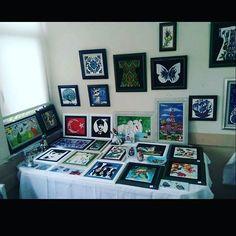 My works... Çini çalışmalarım... #tilepainting #certificate #painting #handpainted #ceramic #ceramics #tile #plate #decorative #tileart #tilepainting #colorful #love #coasters #instagram #instagood #instalike #byneshka #çini #art #craft #elboyama #çiniboyama #dekoratifobje #sertifika #çinisanatı