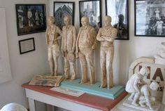 Four Kansans - Amelia Earhart, Arthur Capper, William Allen White, Dwight Eisenhower at Stone Gallery 107 W. 6th Hays, KS