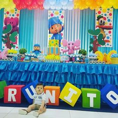 1st Birthday Party Themes, Second Birthday Ideas, Baby First Birthday, Backdrop Decorations, 1st Birthdays, Party Planning, Ideas Para Fiestas, Ticket Invitation, Mickey Mouse Birthday