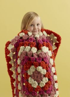 If you're in a hurry, this Dream Baby Throw in Quick & Cozy yarn is super speedy to crochet with a P hook.