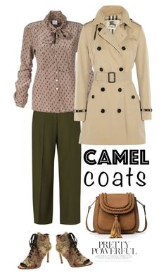 """""""Camel coat"""" by pamela-802 ❤ liked on Polyvore featuring Maison Margiela, Burberry, Nanette Lepore, Fall and camelcoat"""