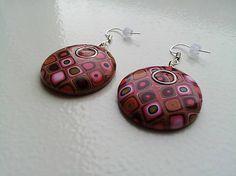 Polymer clay earrings KatikaZ / retro-kruh maly  http://www.sashe.sk/KatikaZ http://www.fler.cz/katikaz https://www.facebook.com/pages/Katika-Handmade-jewelry/611752618918894?ref=hl