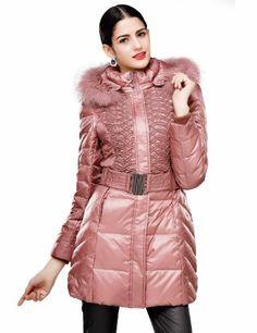 Maxchic Women's Fox Fur Trim Hooded Parka Quilted Down Coat with Belt D10386Y13C,Hummus,XX-Large Maxchic,http://www.amazon.com/dp/B00FYNXD2A/ref=cm_sw_r_pi_dp_MmZSsb0KE6Q32Q4B