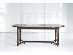 Shop for Kravet Rope Twist Oval Dining Table, WD2/84OV PL OG YK, and other Dining Tables at Kravet in New York, NY. Shown fixed, in Chestnut, Light Distress, Plank Top, Ogee Edge, Yoke Stretcher, Additional Sizes Available.