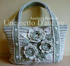 """New Cheap Bags. The location where building and construction meets style, beaded crochet is the act of using beads to decorate crocheted products. """"Crochet"""" is derived fro Crochet Shell Stitch, Crochet Tote, Crochet Handbags, Crochet Purses, Bead Crochet, Diy Crochet, Crochet Stitches, Crochet Patterns, Homemade Bags"""