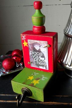 Stocking Hanger with Photo Display. .