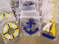 Nautical theme Baby Shower Favor bags 10 pieces via Etsy Baby Shower Souvenir, Baby Shower Favors, Baby Shower Themes, Baby Shower Gifts For Boys, Baby Boy Shower, Dirt Bike Party, Shower Together, Baby Shawer, Nautical Party
