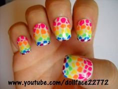 Spotty & Dotty Paws - Lisa Frank series - Nail Art Gallery by NAILS Magazine