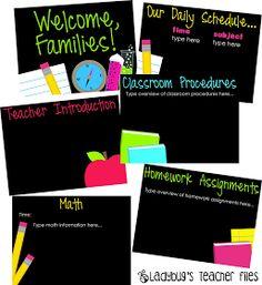 Ladybug's Teacher Files: Editable Parent Presentation Pack (free file)