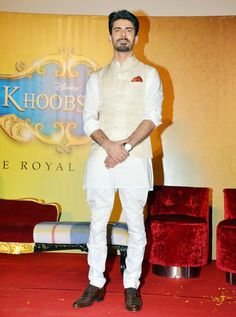 Fawad Khan at the Khoobsurat trailer launch. #Style #Bollywood #Fashion #Handsome
