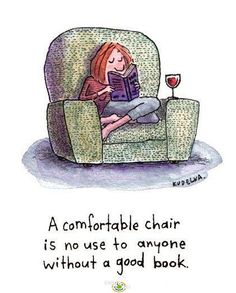 And a home is simply not complete without at least one comfy chair - and a pile of books