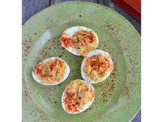 Hummus Deviled Eggs #glutenfree #dairyfree #recipe