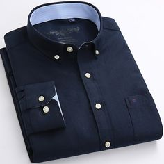 2017 Newest Design High Quality Oxford Men Shirts Long Sleeve Spring Button Down Cotton Business Formal Male Shirts