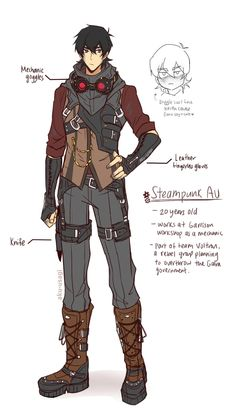 Steampunk Keith in the age of twenty from Voltron Legendary Defender Voltron Klance, Voltron Fanart, Form Voltron, Voltron Ships, Voltron Cosplay, Fantasy Character Design, Character Design Inspiration, Character Concept, Character Art