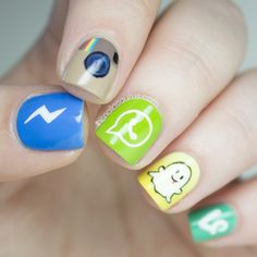 These are so unique and fun. We love the social media nails !