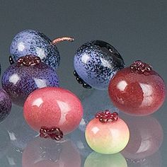 glass blueberries glass-beads