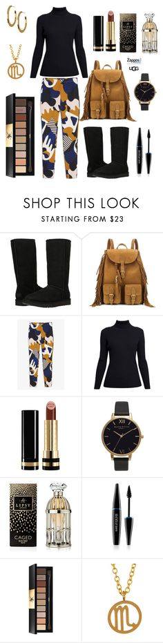 """The Icon Perfected: UGG Classic II Contest Entry"" by breeyvonne ❤ liked on Polyvore featuring UGG Australia, Yves Saint Laurent, Monki, Rumour London, Gucci, Olivia Burton, Lipsy, MAKE UP FOR EVER, Kris Nations and Argento Vivo"