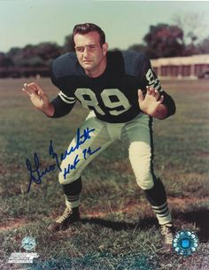 """Gino Marchetti Baltimore Colts Autographed 8x10 Photo Inscribed """"HOF 72"""" -Stance-"""