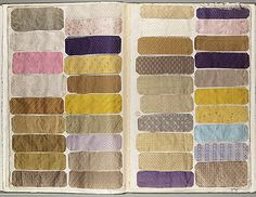 Sample book of French fabric late 19th century.