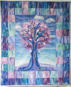 """Купить Плед детский """"Розовое дерево"""" войлок - розовый, дерево, детский плед, детское одеяло"""