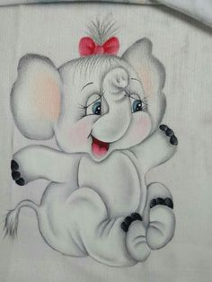 Pinturas infantis Nursery Paintings, Happy Paintings, Crayon Painting, Fabric Painting, Pencil Art Drawings, Animal Drawings, Cute Elephant Pictures, Happy Elephant, Monkey Doll