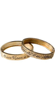 Engraved Fairy Tale bracelet with 'Once Upon a Time' and 'Happily Ever After'.