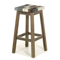 Tabouret haut de bar Naturel/multicolore - Manaka - Les tabourets hauts - Chaises et tabourets - Consoles, tables et chaises - Décoration d'intérieur - Alinéa
