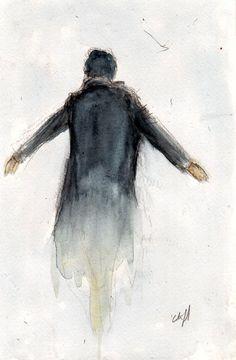 BBC Sherlock The Fall The Reichenbach Fall Art