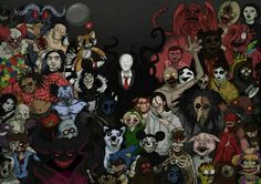 Oh how i love me some Creepypasta. Some of the pastas i've done,but not all. More Creepypasta-----> chrisozfulto. Best Creepypasta, Creepypasta Proxy, Creepypasta Characters, Slenderman Proxy, Jeff The Killer, Creepy Pasta Family, Eyeless Jack, Laughing Jack, Slender Man