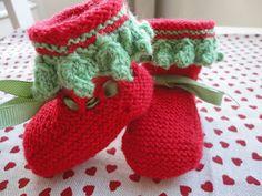 Botitas de bebé, knitting