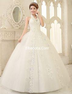 فساتين زفاف دانتيل منفوشة موديلات فساتين اعراس 2015