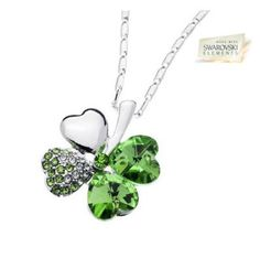 A classic style of modern glamour that will complement you at every turn with this stunning lucky clover necklace dangling from your neck. Set in silver-plated