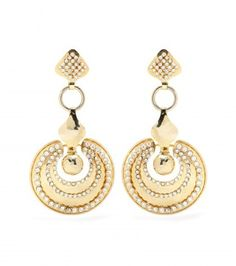 La DoubleJ Mytheresa.com Exclusive Embellished Gold-tone Earrings By Ugo Correani For Gianni Versace