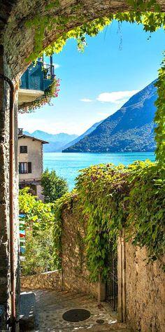 Lake Lugano ~ Switzerland. Stayed here, long ago, loved every minute of it! 8/06/2017 klimaat , dit is een mooi uitzicht van in Zwitserland in de zomer ik vond dit wel zeer speciaal want normaal zie ik nooit zomer in Zwitserland.