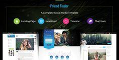 Friend Finder - Social Network HTML5 Template  -  https://themekeeper.com/item/site-templates/friend-finder-html5-template